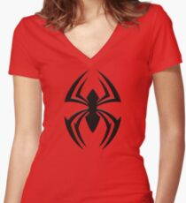 Kaine's Spider Women's Fitted V-Neck T-Shirt