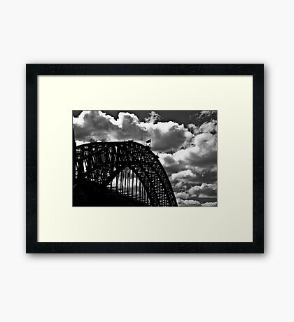 Clouds, lines, steel, and me someday...: On 2 Featured Works Framed Print