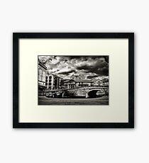 Nottingham Canal b&w  Framed Print