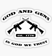 God and Guns Sticker