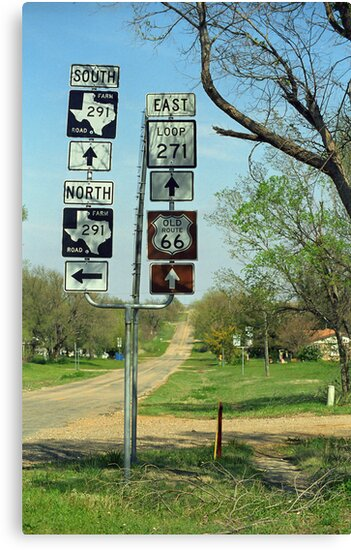 Route 66 - Alanreed, Texas by Frank Romeo