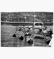 Airplanes-seaplanes B&W Poster