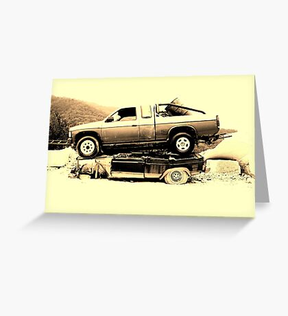 Storia dell'automobile Greeting Card