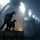 Standing Beside The Bridge In The Fog by VladimirFloyd