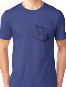 Little Dragon In My Pocket 1 - Blue Unisex T-Shirt