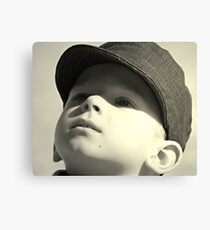 boy in the cap Canvas Print