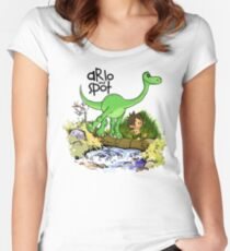 Arlo and Spot  Women's Fitted Scoop T-Shirt