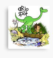 Arlo and Spot  Canvas Print