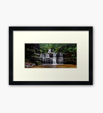 Flowing Terrace Falls Framed Print