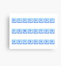 Computer keyboard Canvas Print