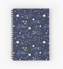 cosmos, moon and stars. Astronomy pattern Spiral Notebook