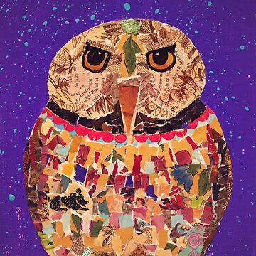 Collage Owl by cesstrelle