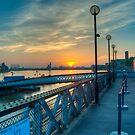 Sunrise at Greenwich Pier: River Thames by DonDavisUK