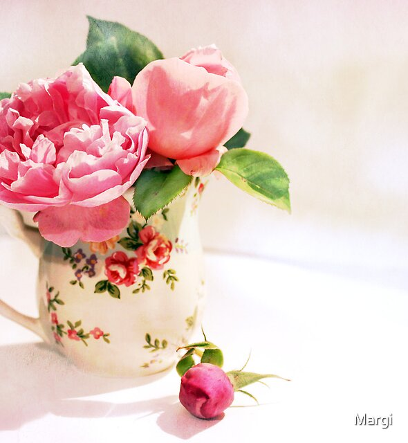 Little Flowered Jug by Margi