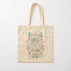Swedish Folk Cats Cotton Tote Bag