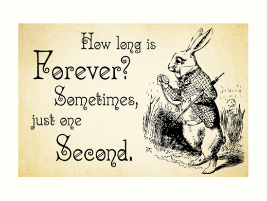 Alice In Wonderland Quotes Interesting Alice In Wonderland Quote How Long Is Forever White Rabbit Quote