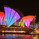 Vivid Colourful Opera House by Michael Matthews