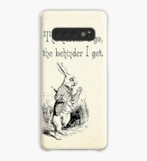 Alice in Wonderland Quote - The Hurrier I Go - White Rabbit Quote - 0125 Case/Skin for Samsung Galaxy