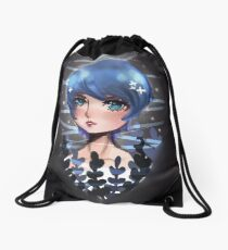 Blue Girl  Drawstring Bag