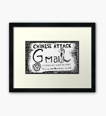 Red Brute Force Attack Framed Print