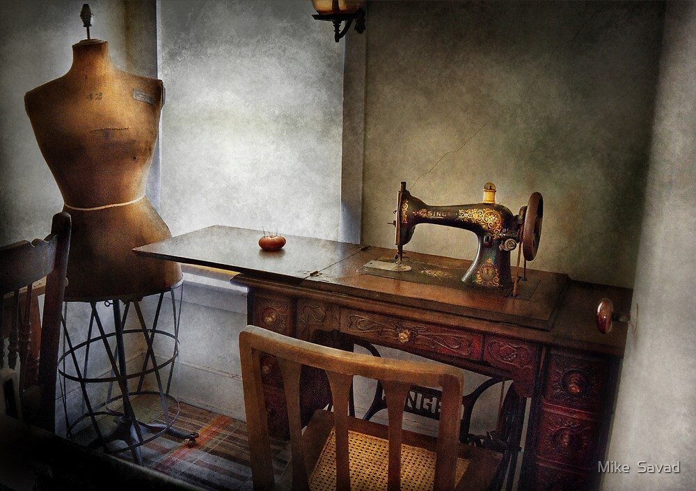 Sewing - A tailors life  by Mike  Savad