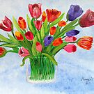 Short Stem Tulips by maggie326