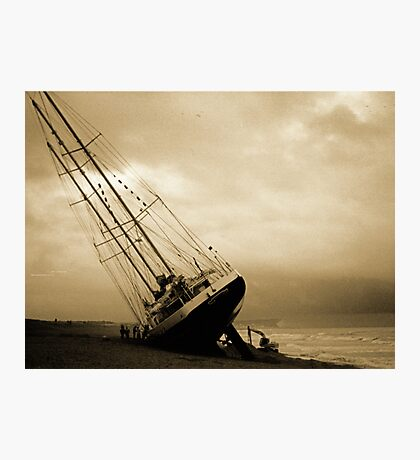 The Eendracht aground in Seaford Bay Photographic Print