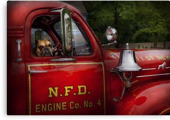 Fireman - This is my truck by Michael Savad