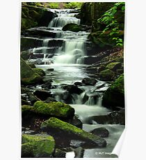 Lumsdale Waterfall Poster