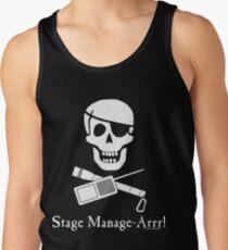 Stage Manage-Arrr! White Design Tank Top