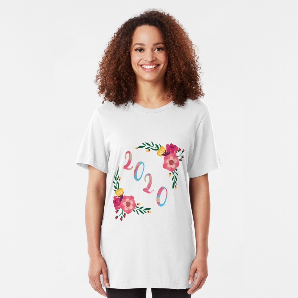 Happy New Year 2020 Slim Fit T-Shirt