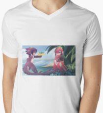 RU and Mako beach fun Men's V-Neck T-Shirt
