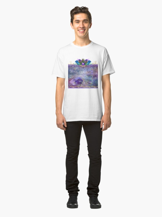 Alternate view of Peacock Queen Whimsical Bubble Realm Classic T-Shirt