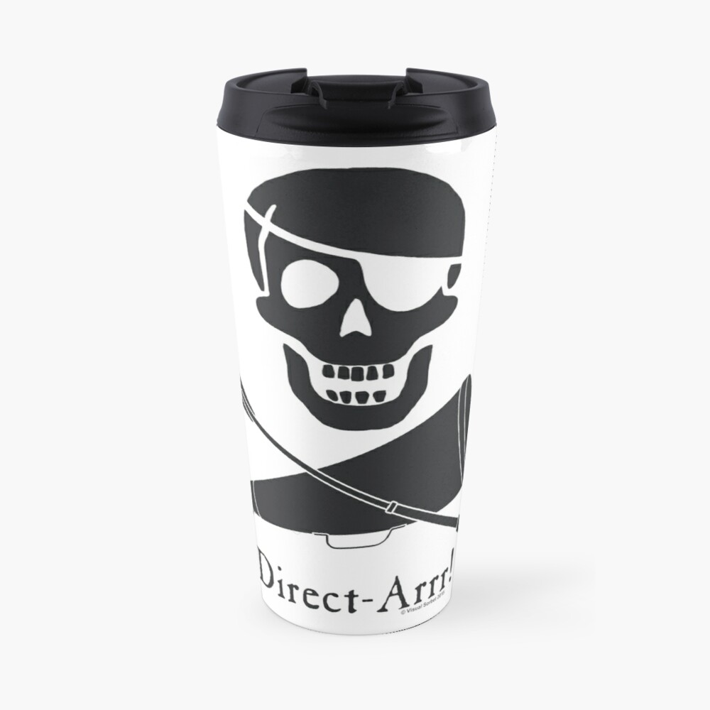 Direct-Arrr! Black Design Travel Mug