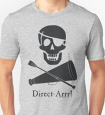 Direct-Arrr! Black Design Unisex T-Shirt
