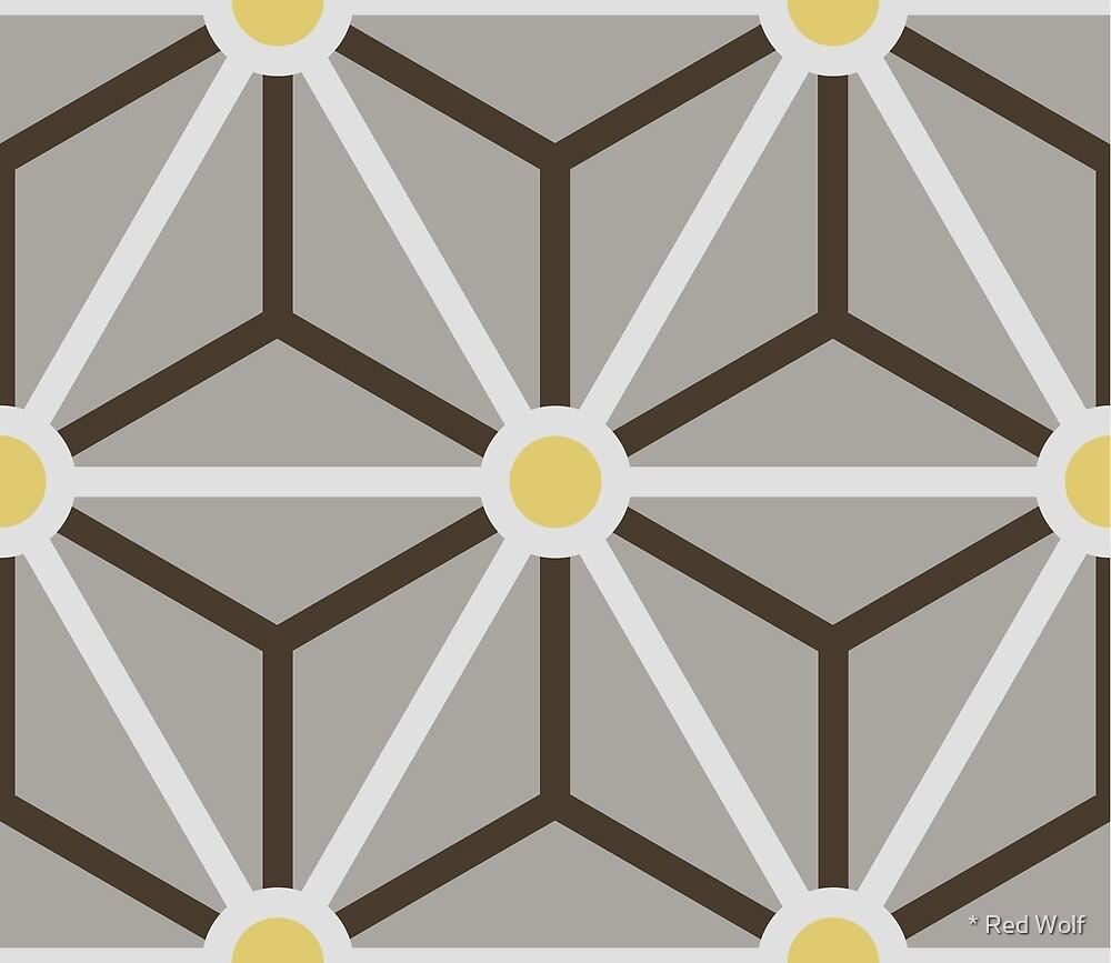 Geometric Pattern: Art Deco Star: Ceylon by * Red Wolf