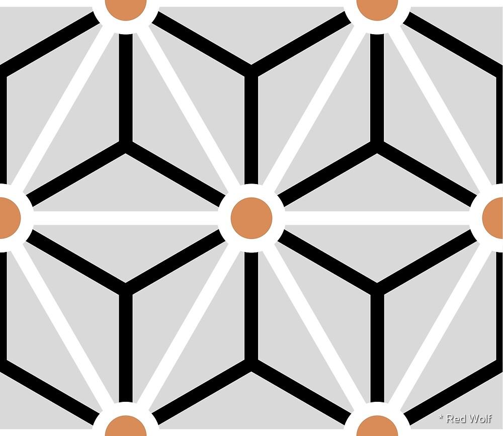 Geometric Pattern: Art Deco Star: Lotus by * Red Wolf