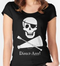 Direct-Arrr! White Design Women's Fitted Scoop T-Shirt