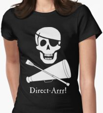 Direct-Arrr! White Design Women's Fitted T-Shirt