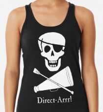 Direct-Arrr! White Design Racerback Tank Top