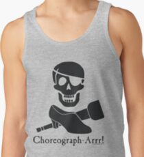 Choreograph-Arrr! Black Design Tank Top