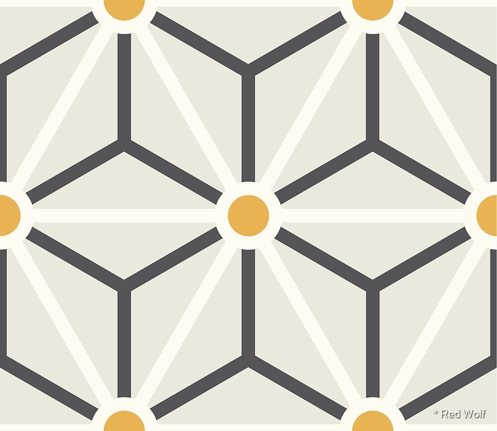 Geometric Pattern: Art Deco Star: Carnival by * Red Wolf
