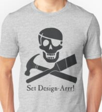 Set Design-Arrr! Black Design Unisex T-Shirt