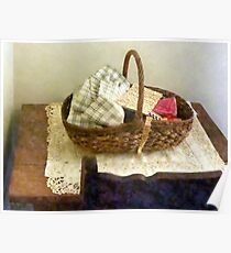 Basket of Cloth and Measuring Tape Poster