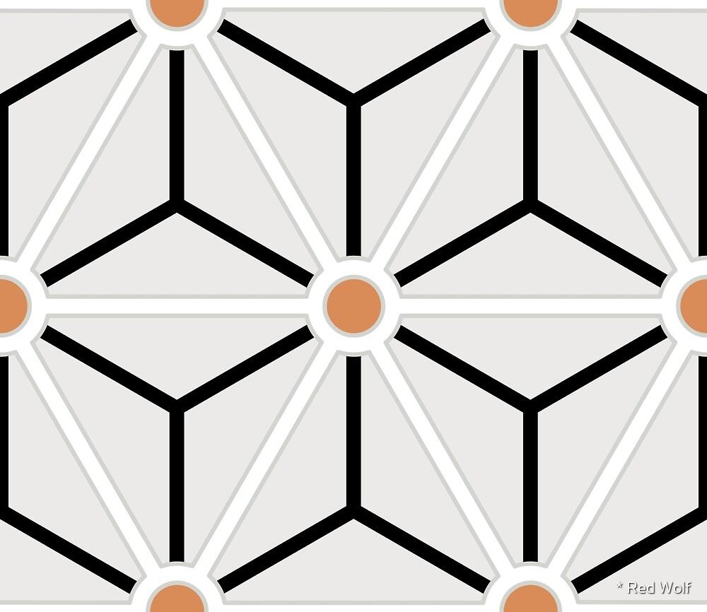 Geometric Pattern: Art Deco Star: Brookelyn Zammit: Terracotta by * Red Wolf