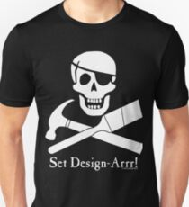 Set Design-Arrr! White Design Unisex T-Shirt