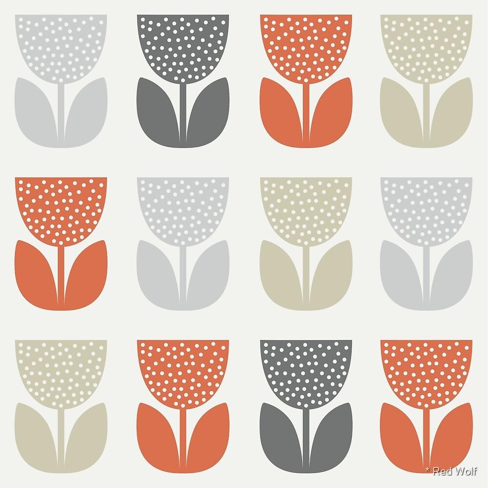 Geometric Pattern: Poppy: Brookelyn Zammit: Orange by * Red Wolf