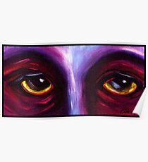 Purple Eyes Poster
