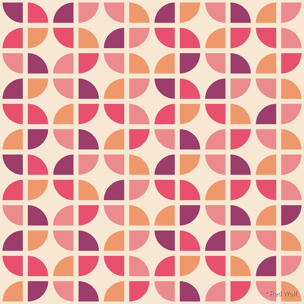 Geometric Pattern: Quarter Circle: Pippa by * Red Wolf