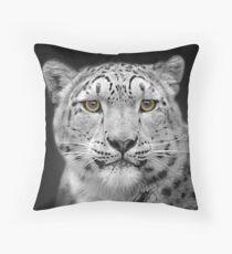 Endangered Snow Leopard Throw Pillow